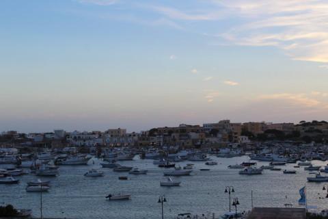 Lampedusa al tramonto